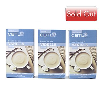 400-196 - CBTL Set of 24 Single-Serve French Vanilla Latte Powder Packets