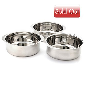400-205 - Trinity Set of Three Stainless Steel Chafing Inserts