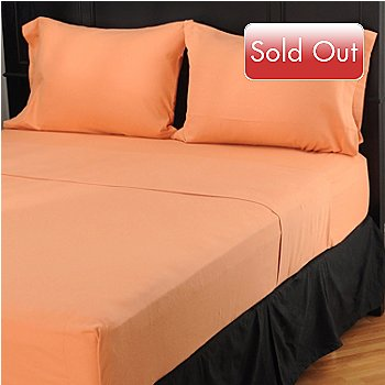401-613 - North Shore Linens™ Cotton Sheered Flannel Four-Piece Sheet Set