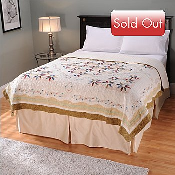 401-738 - North Shore[ ''Twilight'' Limited Edition Embroidered Stars Twin Quilt