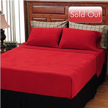 401-760 - Cozelle® 95 GSM Microflannel Plaid Squares Six-Piece Sheet Set