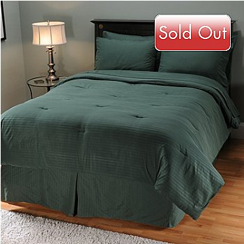 401-786 - Cozelle Microfiber Eight-Piece Dobby Stripe & Solid Bedding Set