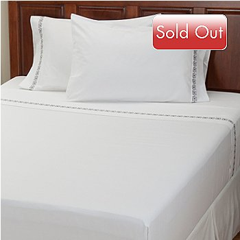 401-931 - North Shore Linens[ ''Four Corners'' 300TC Cotton 4-Piece Sheet Set