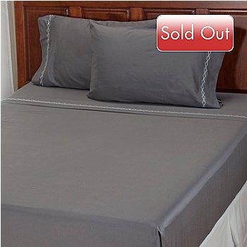 401-935 - North Shore Linens[ ''Double Diamond'' 300TC Cotton 4-Piece Sheet Set