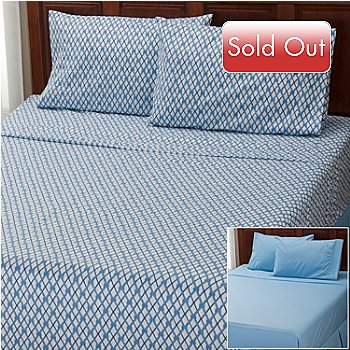 401-951 - Cozelle® ''Nantucket'' Microfiber Set of Two 4-Piece Sheet Sets