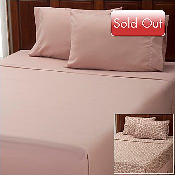 401-954 - Cozelle® ''Giraffe'' Microfiber Four-Piece Sheet Set - Set of Two