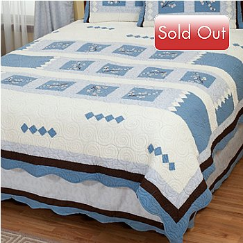 402-013 - North Shore™ Collectible Quilts ''Blossoms'' Limited Edition Quilt - Full / Queen Size