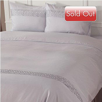 402-033 - Cozelle® Microfiber Lace Three-Piece Duvet Set