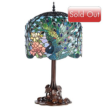 402-833 - Tiffany Style 34.25'' Fantastic Feodora's Stained Glass Table Lamp
