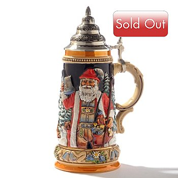 404-623 - King-Werk Limited Edition ''Alpine Santa & Silent Night Chapel'' Handcrafted Stoneware Stein