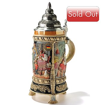 405-431 - King-Werk Limited Edition ''Three-Legged in the Pub'' German Earthenware Stein