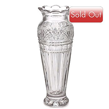 405-573 - Waterford Crystal 9'' Jim O' Leary Anniversary Vase Signed