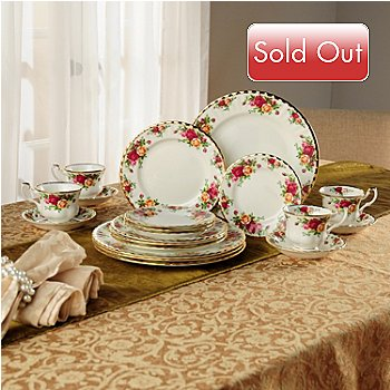 405-973 - Royal Albert® Old Country Rose 20-Piece Bone China Dinnerware Set