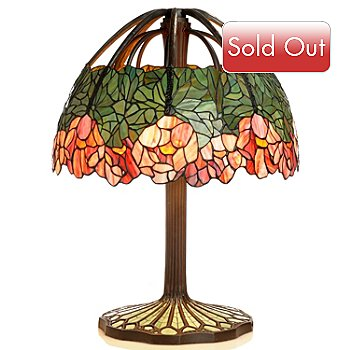 406-031 - Tiffany Style 26'' Lotus Stained Glass Table Lamp