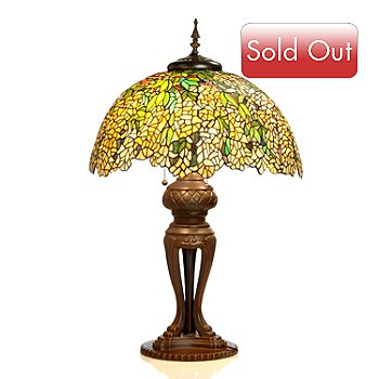 406-038 - Tiffany-Style 34'' Laburnum Stained Glass Table Lamp