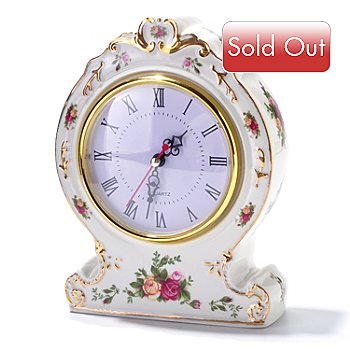 406-159 - Royal Albert® Old Country Rose Victorian Clock -Signed by Michael Doulton