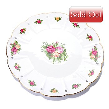 406-164 - Royal Albert® Old Country Rose 14'' Pierced Edge Round Platter