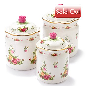406-165 - Royal Albert® Old Country Rose Set-of-Three Canisters