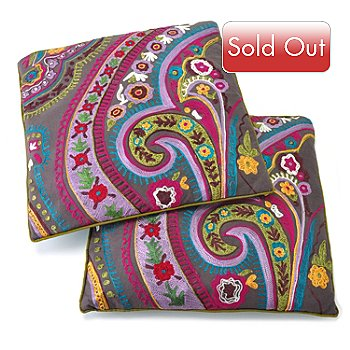 406-222 - Whimsical Set of Two Throw Pillows