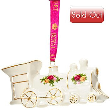 406-279 - Royal Albert® Old Country Rose 2'' Porcelain Toy Train Ornament