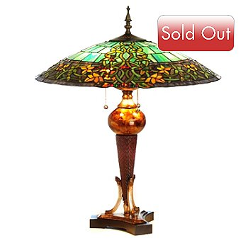 406-296 - Tiffany-Style 27.75'' Hampstead Stained Glass Table Lamp