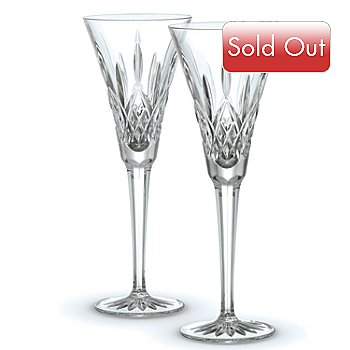 406-315 - Waterford® Crystal Classic Lismore Toasting Flute Pair