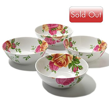 406-324 - Royal Albert® Old Country Roses Set of Four Porcelain Bowls
