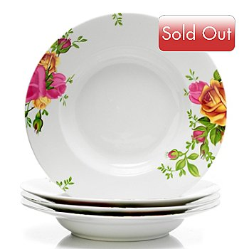 406-330 - Royal Albert® Old Country Roses Set-of-Four Porcelain Serving Bowls
