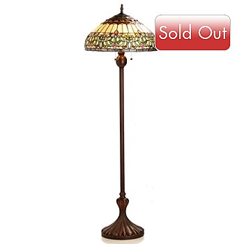 406-388 - Tiffany-Style 63.75'' Valencia Stained Glass Floor Lamp