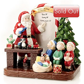 406-423 - Royal Doulton® 7-1/2'' Santa's Toy Testing Figurine Signed by Michael Doulton