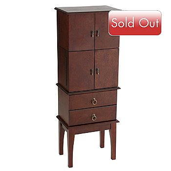 412-677 - Jewelry Armoire Cherry Finish