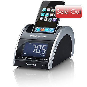 419-212 - Panasonic RC-DC1 iPod/iPhone Docking Clock Radio w/ Dual Alarm Mode