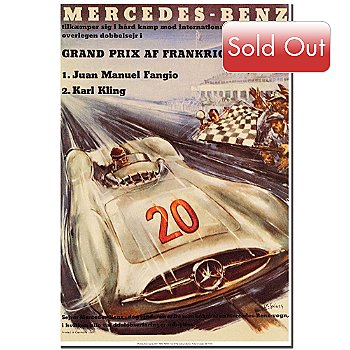 419-580 - Mercedes-Benz by H. Liskars 18'' x 24'' Ready to Hang Art