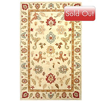 424-893 - Global Rug Gallery 4.75' x 7.5' Persian Style Hand Tufted Wool Rug