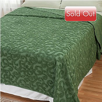 429-114 - North Shore Linens™ ''Scroll'' Cotton Chenille Bedspread