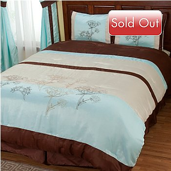429-120 - North Shore Linens™ ''Brookfield'' Four-Piece Comforter Set