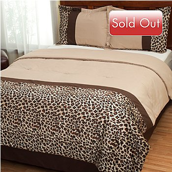 429-128 - North Shore Linens™ ''Leopard'' Four-Piece Comforter Set