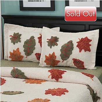 429-130 - North Shore Linens™ ''Autumn Leaves'' 100% Cotton Chenille Sham