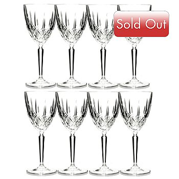 429-168 - Marquis® by Waterford® Set of Eight Crystalline Sparkle Glasses