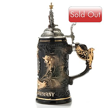 429-183 - King-Werk™ ''Deutschland Black & Gold Eagle'' Stoneware Stein
