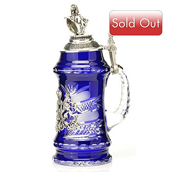 429-186 - King-Werk™ ''Bayern'' Royal Blue Crystal Stein