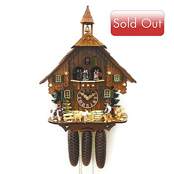 429-199 - Hubert Herr Black Forest Farmer Eight-Day Hand Crafted Cuckoo Clock