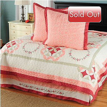 429-611 - North Shore™ Collectible Quilts ''Aria'' 100% Cotton Euro Sham Pair & Bed Skirt Set