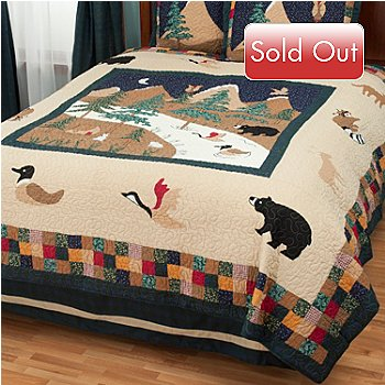 429-616 - North Shore™ Collectible Quilts ''Bear Mountain'' Limited Edition 100% Cotton Quilt