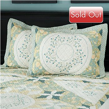 429-738 - North Shore™ Collectible Quilts ''Meadow Song'' 100% Cotton Sham Pair