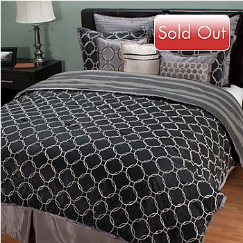 429-751 - North Shore Linens™ Reversible Nine-Piece Comforter Set