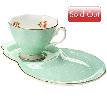 429-794 - Royal Albert® 1930 Polka Rose Cup & Saucer Hostess Set