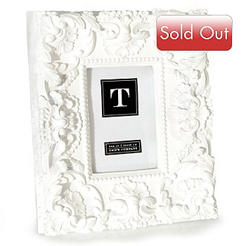 429-882 - White Mod™ Ornate Resin 4'' x 6'' Photo Frame