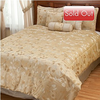 429-885 - North Shore Linens™ ''Tonal Leaf'' Seven-Piece Comforter Set