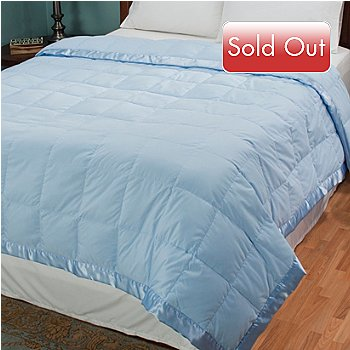 429-993 - Cozelle® Microfiber White Down Satin Trimmed Blanket
